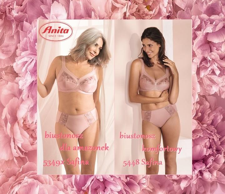 biustonosze safina w nowym kolorze, biustonosz komfortowy, biustonosz dla amazonki Anita