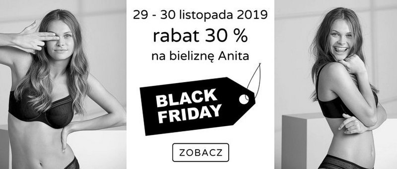 black friday rabat 30 % na bieliznę Anita